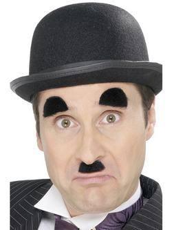 Fekete Chaplin Bajusz és Szemöldök