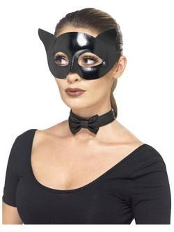 Fekete Cica Szett Maszkkal és Gallérral
