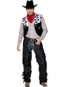 Fekete Cowboy Férfi Jelmez