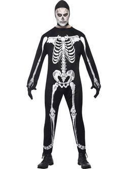 Fekete Csontváz Férfi Jelmez