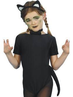 Fekete-Fehér Cica Jelmezkellék Szett
