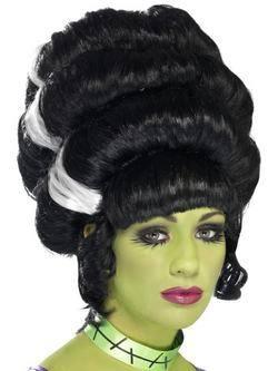Fekete-Fehér Feltűzött Frankenstein Kedvese Paróka