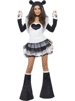 Fekete-Fehér Panda Tütü Női Jelmez