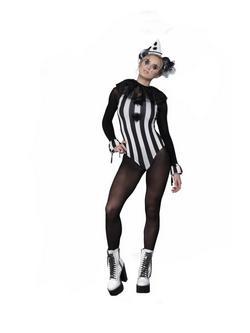 Fekete-Fehér Pierrot Bohóc Női Jelmez