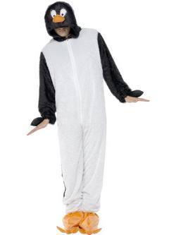 Fekete-Fehér Pingvin Férfi Jelmez