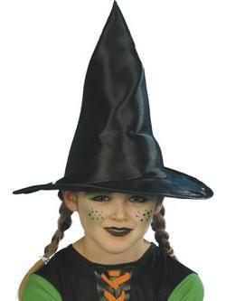 Fekete Fényes Boszorkány Kalap
