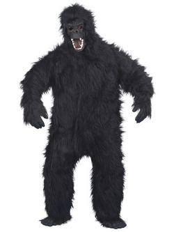 Fekete Gorilla Férfi Jelmez