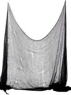 Fekete Hátborzongató Textília - 75 cm x 300 cm