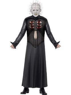 Fekete Hellraiser Pokolról Pokolra Pinhead Férfi Jelmez