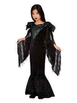 Fekete Holló Kislány Jelmez Halloweenre