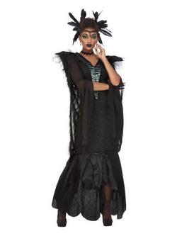 Fekete Holló Női Jelmez Halloweenre