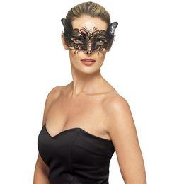 Fekete Macskaszerű Velencei Szemmaszk