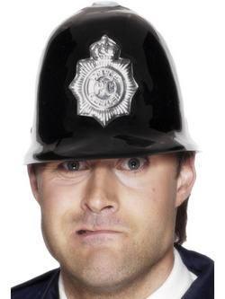 Fekete Műanyag Rendőr Sapka