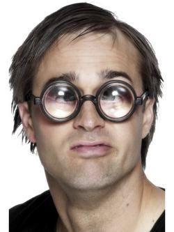 Fekete Nagyítós Szemüveg