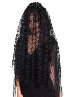 Fekete Özvegy Fátyol Nőknek