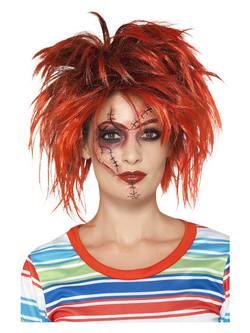 Fekete-Piros Chucky Smink Szett Ecsettel és Tetoválással
