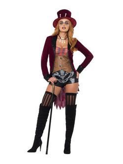 Fekete-Piros Voodoo Jelmez Nőknek - XS