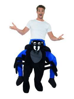 Fekete Pók Hátán Lovagló Jelmez Férfiaknak