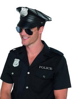 Fekete Rendőr Sapka Felnőtteknek