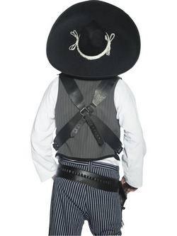 Fekete Mexikói Bandita Sombrero Kalap