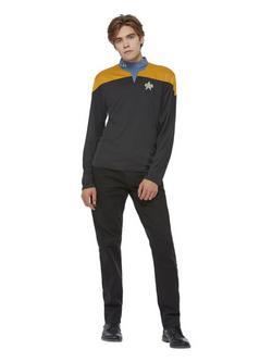 Fekete Star Trek Filmből Ismert Data Férfi Jelmez