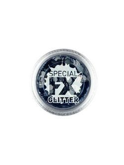 Fekete Színű Konfetti a Smink Kiegészítéseként - 2 gramm