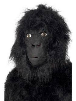 Szőrös Fekete Teljes Fejet Befedő Latex Gorilla Maszk