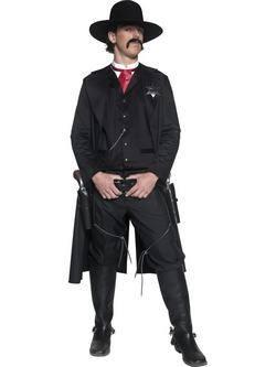 Fekete Vadnyugati Seriff Férfi Jelmez