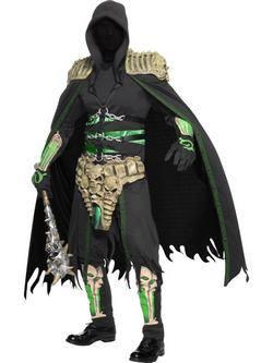 Fekete-Zöld Kaszás Férfi Jelmez
