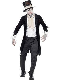 Fekete Zombi Vőlegény Férfi Jelmez