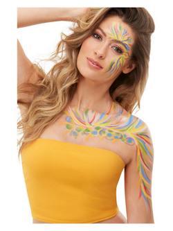 Fesztivál Stílusú Színes Arcfesték Készlet Make-Up Fix