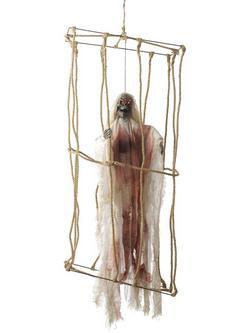 Függő Csontváz Ketrecben Halloween Dekoráció