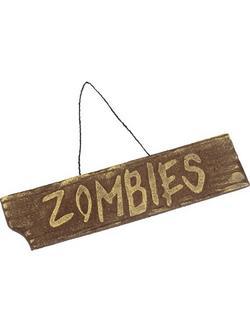 Függő Halloween Tábla Zombie