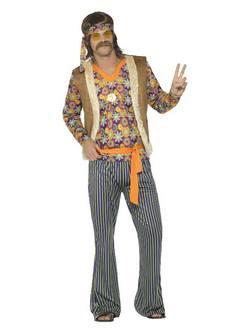 Hippi Énekes Férfi Jelmez