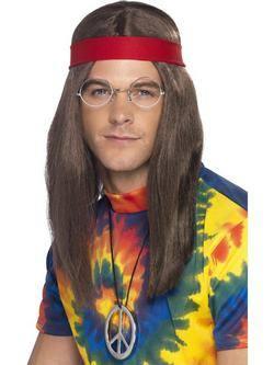 Hippi Férfi Jelmezkellék Szett