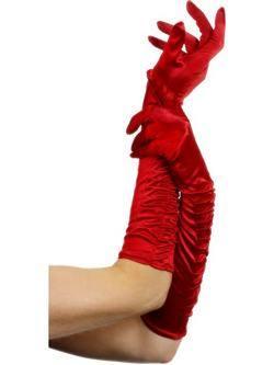 Hosszú Piros Csábító Kesztyű - 46 cm