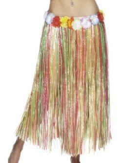 Hosszú Színes Virágos Hawaii Fűszoknya Gumis Derékkal