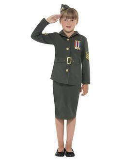 II. Világháborús Katona Kislány Jelmez