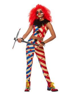 Ijesztő Bohóc Női Jelmez Halloweenre