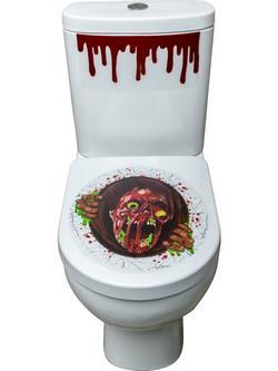 Ijesztő Zombi WC Dekoráció Halloweenre