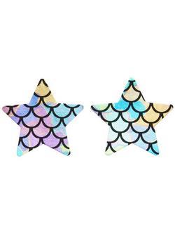 Irizáló Csillag Alakú Sellő Mintájú Mellbimbótakaró