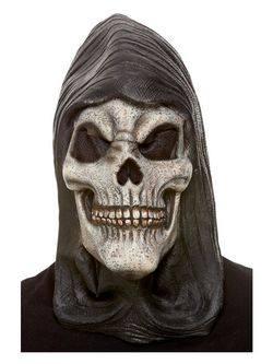 Kapucnis Csontváz Latex Maszk