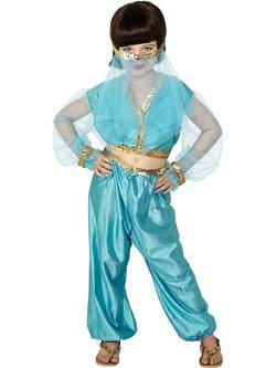 Kék Arab Hercegnő Kislány Jelmez