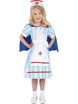 Kék-Fehér-Piros Klasszikus Nővér Kislány Jelmez