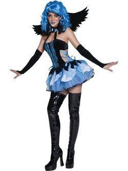 Kék-Fekete Angyal Női Jelmez