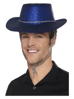 Kék Glitteres Cowboy Kalap