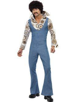 Kék Hippi Táncos Férfi Jelmez