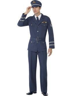 Kék II. Világháborús Pilóta Férfi Jelmez
