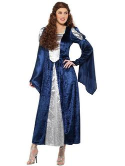 Kék Középkori Jelmez Nőknek Ruhával