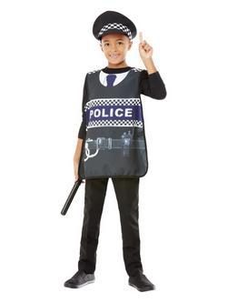 Kék Rendőr Jelmezkellék Szett Gyerekeknek